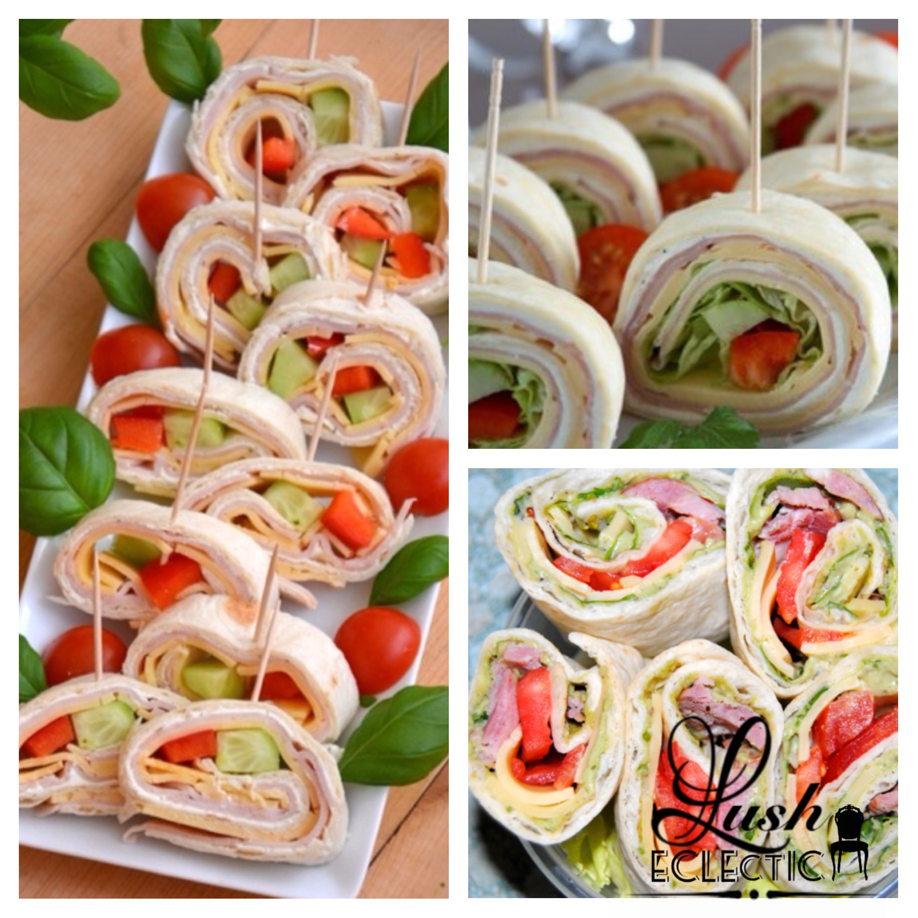 Party food ideas lush eclectic design lifestyle for Canape wraps