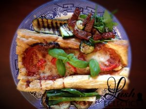 puff pastry tart and grilled veg