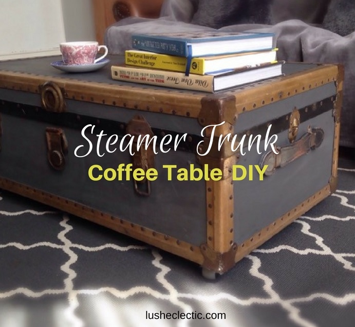 Steamer Trunk Coffee Table Upcycle Project